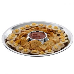 Outdoor Stainless Steel Appetizer Serving Tray
