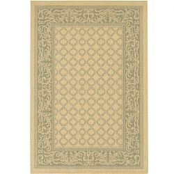 Natural and Green Garden Lattice Patio Rugs