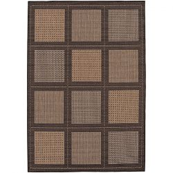 Cocoa and Black Summit Pattern Outdoor Rug