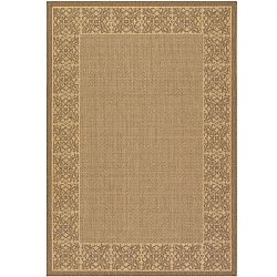 Summer Chimes Natural and Cocoa Outdoor Rugs