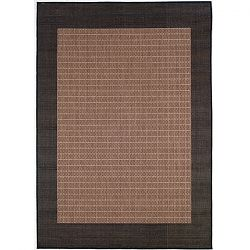 Cocoa with Black Border Area Rug