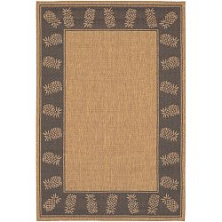 Cocoa and Black Pineapple Motif Rugs