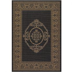 Antique Medallion Black and Cocoa Rug