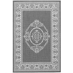 Antique Medallion Grey and White Rug