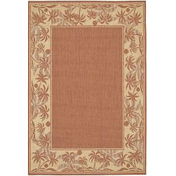 Terra Cotta and Natural Island Retreat Outdoor Rug