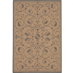 Cocoa and Black Scroll Outdoor Rugs