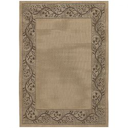 Tuscana Cream and Brown Patio Rug
