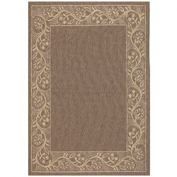 Tuscana Brown and Cream Outdoor Rug