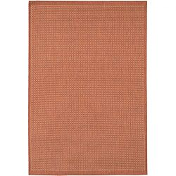 Saddle Stitch Terra Cotta and Natural Rug