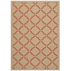 Sorrento Cream and Terra Cotta Outdoor Rug