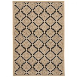 Sorrento Cream and Black Outdoor Rug