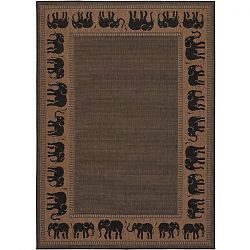 Elephants Outdoor Rug
