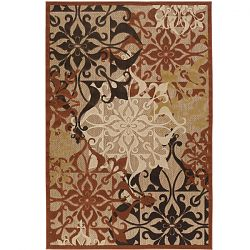Gatesby Tan and Terra Cotta Outdoor Rug