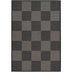 Concord Black and Grey Outdoor Rug