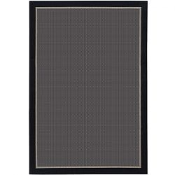 Freeport Black and Taupe Outdoor Rug