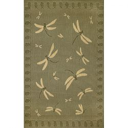 Moss Dragonfly Area Rug