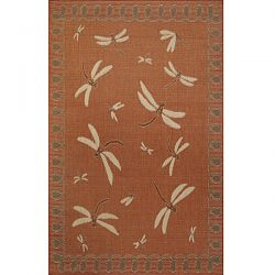 Dragonfly Terracotta Rug