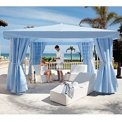 la-Fete Design Pavillion Cabana Suite includes Chaise and Chair