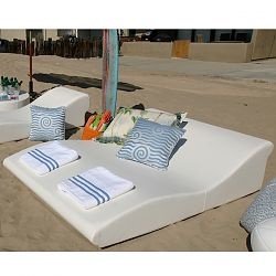 Sunbathe on the Double Wide Tide Chaise
