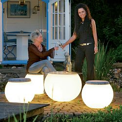 Moonlight - Prismatek Illuminated Outdoor Table and Stool