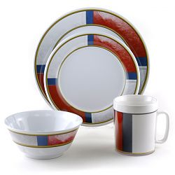 Porthole Pattern Outdoor Dinnerware