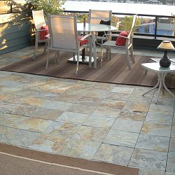 Snap Together Outdoor Multi-Slate Tiles