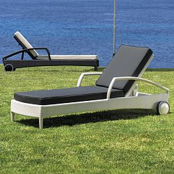 Breda Adjustable Wicker Chaise Lounge