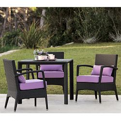 Amberes Outdoor Wicker Dining Chair and Table