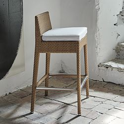 Amberes Outdoor Wicker Bar Stool