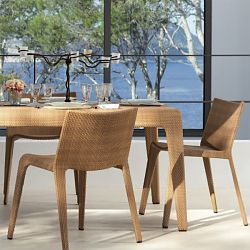 The ''U'' Wicker Dining Table and Chair