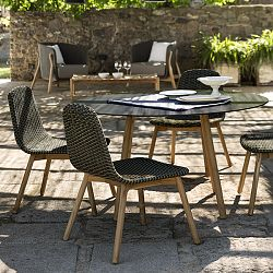 Teak and Wicker Outdoor Dining Collection