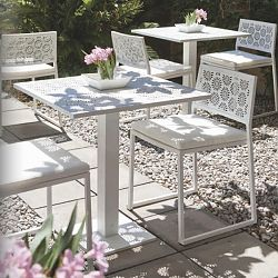 Stainless Steel Bistro Table And Chair