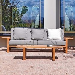 Lineal Teak Sofa and Lounge Chair Collection