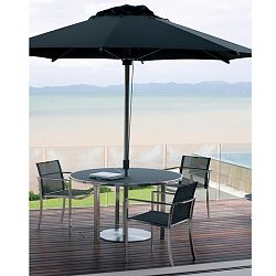 Ozone Dining Table with Umbrella