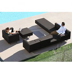 Lazy Black Sectional Seating