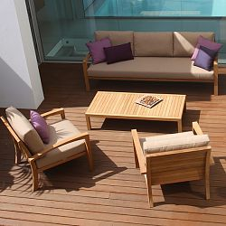 Ixit Teak Sofa and Chair Collection