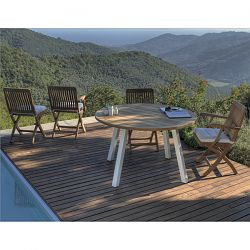 Teak Folding Chair and Table Collection