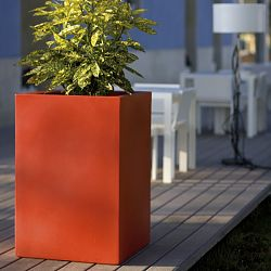 Contemporary Tall Square Indoor-Outdoor Planter
