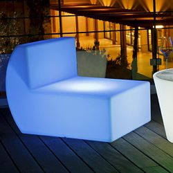 Space Lighting Down Illuminated Outdoor Chair