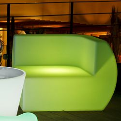 Space Lighting Side Illuminated Outdoor Chair