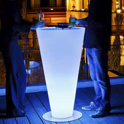 Space Lighting Up Illuminated Outdoor Bar or Bistro Table