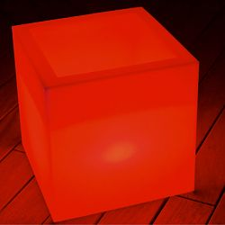 Space Lighting Cube Sharp Illuminated Outdoor Table