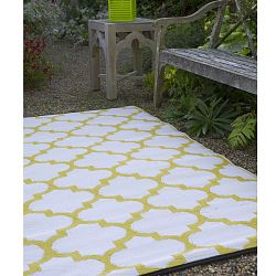 Celery and White Rug