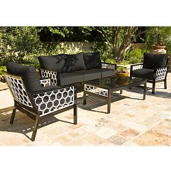 Parkplace Contemporary Outdoor Sofa and Chairs