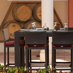 Caribbean Collection Outdoor Bar Table and Stools