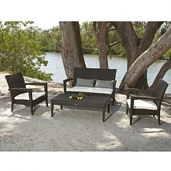 Caribbean Collection Outdoor Love Seat and Lounge Chair