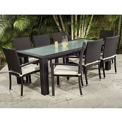 Caribbean Collection Outdoor Dining Table and Chairs