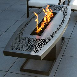 Coffee Table Fire Pit by Artisan John Xochihua