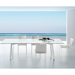 Hamptons Fiberglass Dining Table and Chairs