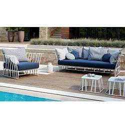 Roberti Hamptons Graphics Sofa and Lounge Chair